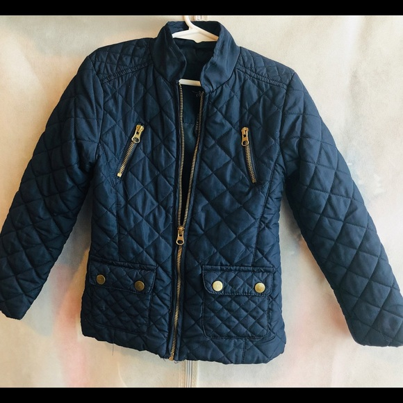 Me Jane Other - | Me Jane | Girls Navy Blue Quilted Jacket
